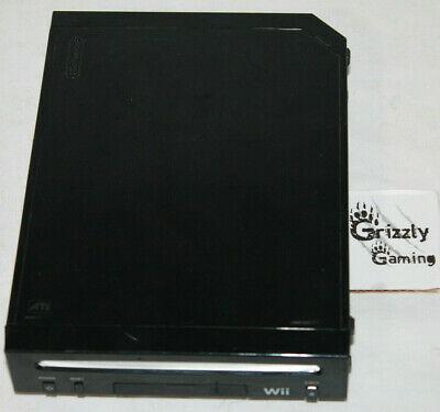 Nintendo Wii Black Model RVL-001 Gamecube Compatible Replacement Console Only