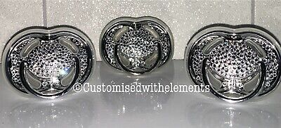 Baby Crystal Strass Avent Dummy Pacifier Christening Baby Shower Bling Gift