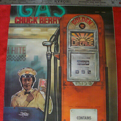 Vintage 1970s CHUCK BERRY POSTER 27X14 The Golden Decade Not a Repro Rock n Roll