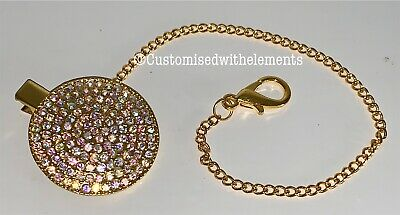 Bling Crystal Rhinestone Dummy Pacifier Clip Baby Shower Gift Lux
