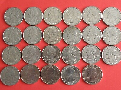 U.S.A. - 23x QUARTER DOLLAR COINS incl STATE & PARK QUARTER ISSUES  (OS01)