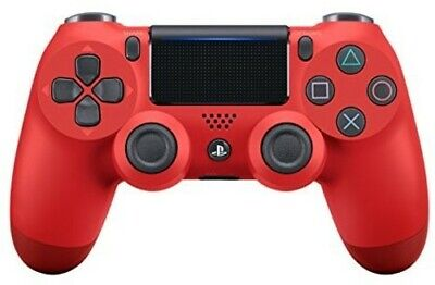 Sony DualShock 4 Wireless Controller: Red for PlayStation 4 - Games Playstation