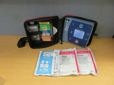 Philips Heartstream FR2+AED Defibrilator M3860A Case Batteries Pads (16694)