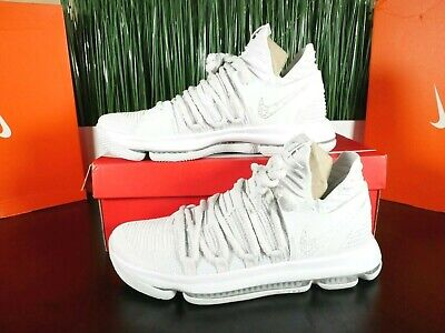 Nike Zoom KD X Kevin Durant KD10 Pure White Grey 897815-009 Size 10