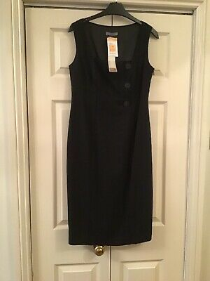Marks & Spencer Black Linen Mix Dress Size 10 New With Tags