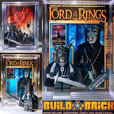 LOTR Sauron Custom Mini Action Figure w Display Case Card 485 Lord Of The Rings