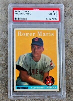 1958 Topps Roger Maris Rookie Card Psa 4 18900