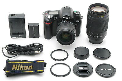 【Near MINT】Nikon D70 6.1MP Digital SLR Camera w/ AF NIKKOR 28-80, 70-300mm JAPAN