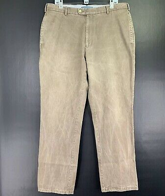Mens PETER MILLAR Premium Pima Cotton Chino Pant Trouser Vintage Brown Sz 36/31