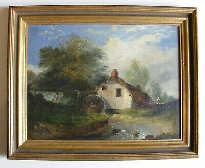 English School 19thC Oil Painting, Old Water Mill, - Manner of Constable / Cox