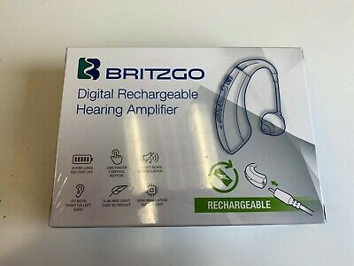 Britzgo Rechargeable Personal Digital Hearing Aid Amplifier BHA-1222