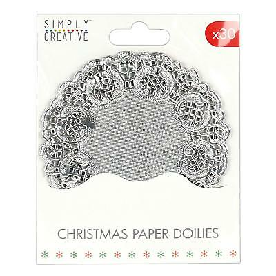 DOVECRAFT 40 ROUND WHITE PAPER LACE CRAFT DOILIES 11.5cm