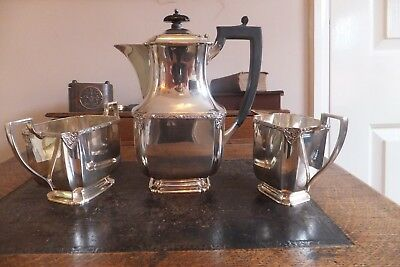 Vintage Atkin Brothers of Sheffield 3 Piece Silver Plated Tea Set