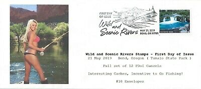 Wild and Scenic Rivers - FDoI Set of 12 - Women Fishing Forever Caches #10 env