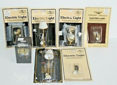 7 Miniature House & Concord Miniatures Electric Light & Lamps Doll Furniture #2