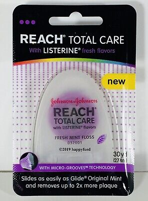 Reach Total Care Fresh Mint Dental Floss 30 YD 27.4 M w/ Listerine Flavor SEALED