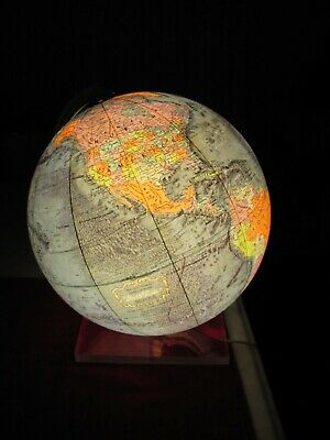 """Vintage Light Up Globe 12"""" by Meredith Corp"""