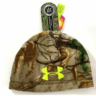 size 40 9043a 74974 Under Armour UA Scent Infrared Realtree Hunting Camo Beanie Cap Youth (  SMALL )