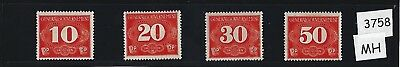Full MH stamp set 1943 General Government  Poland / Rural Delivery Third Reich