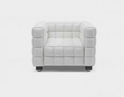 Ultra Modern cube Button kubus design Genuine leather Chair in black or white