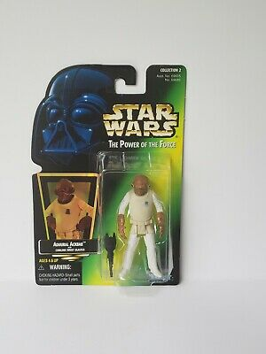 """Star Wars Admiral Ackbar Action Figure 1997 Power of the Force 3.75"""" POTF"""