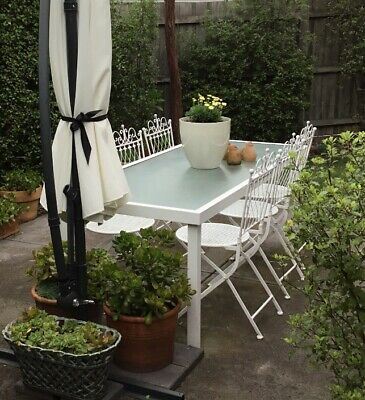 Vintage Wrought  Iron French chairs X 6 ( Not Table)