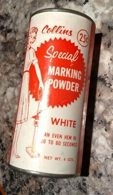 VINTAGE SEWING COLLINS SPECIAL MARKING POWDER in CAN