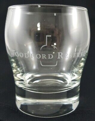 Woodford Reserve Etched Bourbon Whiskey Lowball Glass