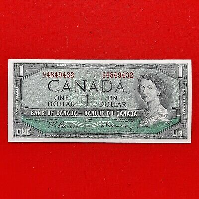 1954 - Canadian - 1 dollar bill - Bank of Canada - $1 Note - Ottawa - DZ4849432