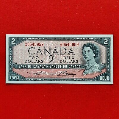 1954 - Canadian - 2 dollar bill - $2 Note - Ottawa - OG0545959 - Uncirculated