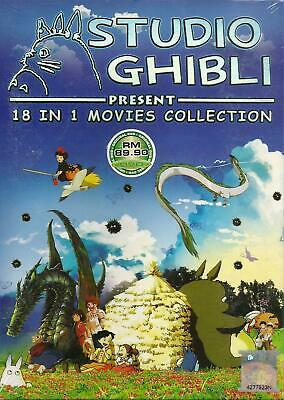 Anime DVD STUDIO GHIBLI 18 IN 1 MOVIES COLLECTION Complete BOX SET NEW