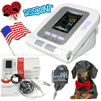 US Veterinary Blood Pressure Monitor VET Automatic BP Monitor Color USB Software