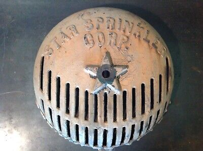 ***Lqqk***Antique Star Sprinkler Alarm Bell Cover (Cast Iron)***