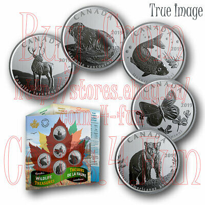 2019 - Canada's Wildlife Treasures - 50-cent  5-Coin Gift Set