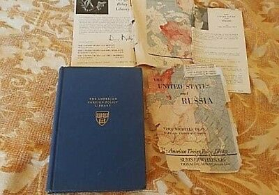 The United States and Russia Book SIGNED Vera Micheles Dean 1948 2nd Ed HC