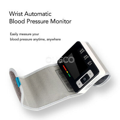 OLIECO LCD Screen Automatic Wrist Blood Pressure Monitor Home Care Supplies HOT