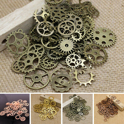 Wholesale Cross Gear Pendant Charms For Bracelet Jewelry Finding DIY Accessories