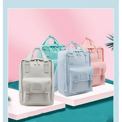 Large Macaron Color Doughnut Women Travel Backpack School Shoulder Bag Rucksack