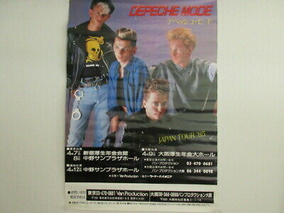 Depeche Mode Japan Tour '85 Japan Promo Poster from Van Production 1985 Synth