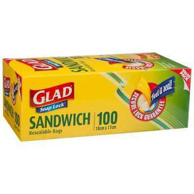 Glad Sandwich Resealable Bags 100 Pack