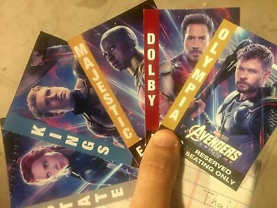 Avengers END GAME LMTD Tickets Premiere Dolby Quant Realm Iron Man MOVIE POSTER