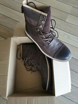 UGG Men's BROWN Full Grain Leather Suede Magnusson Lace-Up Boots 12 UK 47 EUR