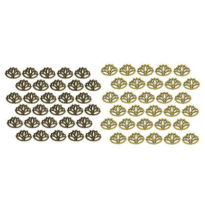 30x Retro Alloy Lotus Flower Beads Loose Spacers Antique Style Charm Finding