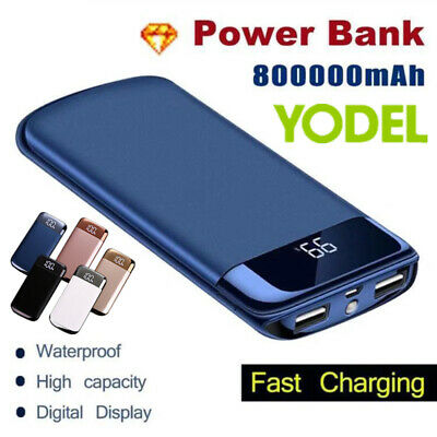 Travel Portable 800000mAh Power Bank External Backup Battery Charger for Phone
