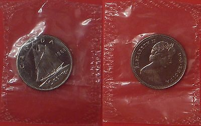 Proof Like 1968 Canada Nickel 10 Cents Sealed in Cello