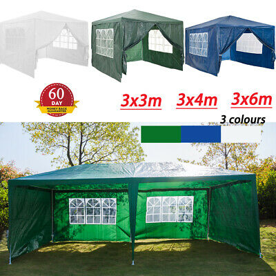 3x3/3x4/3x6M Space Waterproof Outdoor PE Garden Gazebo Marquee Canopy Party Tent