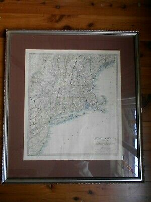 Antique Framed Map Of North America