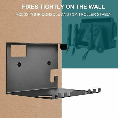 Wall Mount Holder With Installation Accessories For Nintendo Switch Console USA
