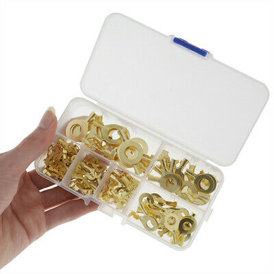 Replacement Cable Terminals Package Plated Electrical Universal 150pcs Brass
