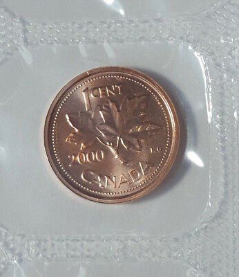 2000 W Canada Proof-Like  1 Cent